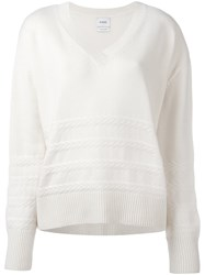 Barrie V Neck Sweater White