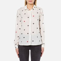 Maison Scotch Women's Basic Printed Shirt White