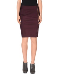 Gianfranco Ferre Gf Ferre' Knee Length Skirts Deep Purple