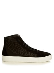 Marcelo Burlon Maipu Suede High Top Trainers Black