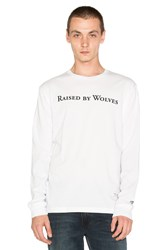Raised By Wolves Geowulf L S Tee White