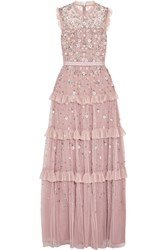 Needle And Thread Twilight Ruffled Embellished Tulle Gown Lilac