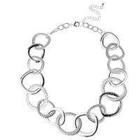 Adele Marie Graduating Flat Link Necklace Silver