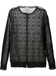 Antipast Embroidered Front Cardigan Black