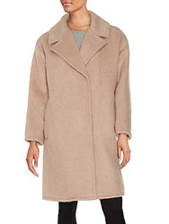 Badgley Mischka Wool And Mohair Blend Coat Blush