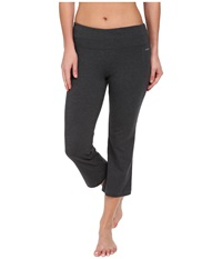 Jockey Active Slim Capri Flare Charcoal Women's Capri Gray