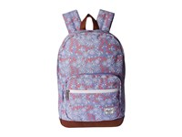 Herschel Pop Quiz Youth Meadow Tan Synthetic Leather Backpack Bags Blue