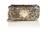 Sonia Rykiel Le Copain Small Sequined Chain Shoulder Bag Gold