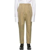 Juun.J Beige Pleated Trousers