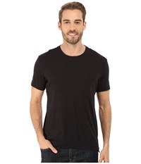 Kenneth Cole Sportswear Short Sleeve Rib Crew W Zipper Black Men's T Shirt