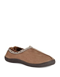Isotoner Microsuede Clog Slippers Taupe