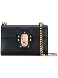 Dolce And Gabbana Lucia Shoulder Bag Women Calf Leather One Size Black