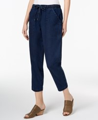 Eileen Fisher Tencel Cropped Pull On Jeans Regular And Petite Midnight