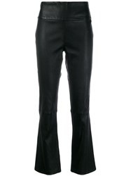 Federica Tosi High Waisted Cropped Trousers Black