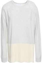 Duffy Two Tone Cashmere Sweater Ivory