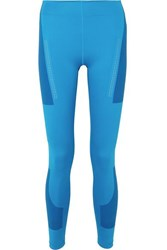 Adidas By Stella Mccartney Parley For The Oceans Fitsense Climalite Leggings Blue
