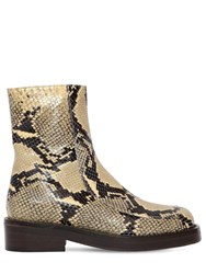 Marni 40Mm Piercing Leather Ankle Boots Khaki