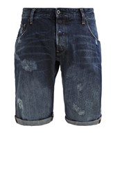 G Star Gstar Arc 3D Tapered 1 2 Denim Shorts Hadron Denim Blue Denim