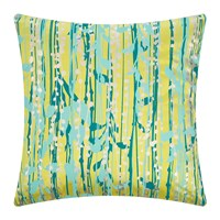 Clarissa Hulse St Lucia Cushion 45X45cm Quince Kingfisher Duck Egg Pewter