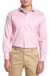 Lorenzo Uomo Big And Tall Trim Fit Oxford Dress Shirt Pink