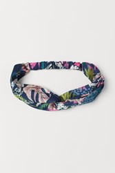 Handm H M Hairband With Knot Detail Blue
