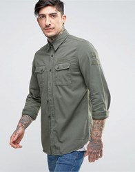 Nudie Jeans Co Gunnar Shirt Patches Green