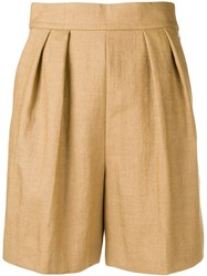 Theory Tapered Shorts Brown