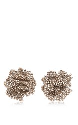 Ranjana Khan Crystal Bloom Earrings Silver