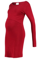 Mama Licious Mlkeira June Jumper Dress Biking Red Dark Red