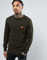 Ellesse Knitted Jumper With Small Logo Green