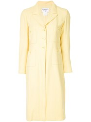 Chanel Vintage Patch Pockets Midi Jacket Yellow And Orange