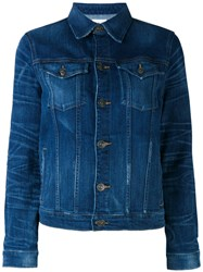 Hudson Denim Jacket Women Cotton Spandex Elastane M Blue