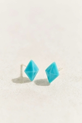 Diament Jewelry X Urban Renewal Tiny Turquoise Diamond Stud Earring