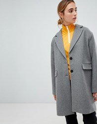 Pull And Bear Pullandbear Car Coat Grey