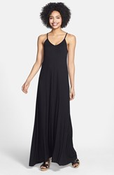 Petite Women's Loveappella Maxi Dress Black