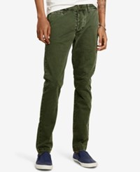 Denim And Supply Ralph Lauren Men's Super Slim Fit Chino Pants Olive