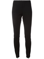 Helmut Lang Zipped Detailing Leggings Black