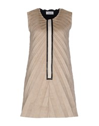 Aviu Short Dresses Beige