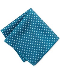 Ryan Seacrest Distinction Style Dot Pocket Square Teal