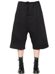 Y's Wide Leg Cotton Twill Cropped Pants