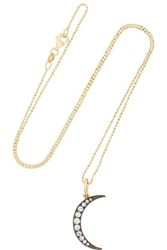 Andrea Fohrman Luna Medium 18 Karat Gold Diamond Necklace