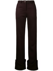 Jacquemus High Waisted Trousers Pink Purple