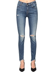J Brand Maria High Rise Destroyed Skinny Jeans Blue