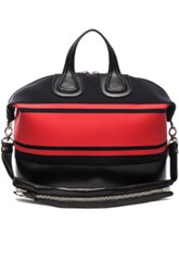 Givenchy Top Handle Nightingale In Black Red Stripes