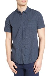 Rvca Men's 'That'll Do' Trim Fit Microdot Woven Shirt Federal Blue