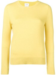 Barrie Round Neck Jumper Yellow