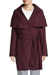 T Tahari Marla Handmade Coat Port Wine