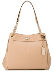 Coach Chain Strap Shoulder Bag Nude And Neutrals