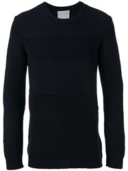Stephan Schneider Reason Jumper Men Cotton Wool M Blue