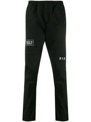 Rta Relaxed Fit Graphic Print Trousers Black